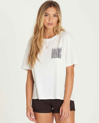 1 Take Back Lace-Up Vintage Tee White J909PBTA Billabong