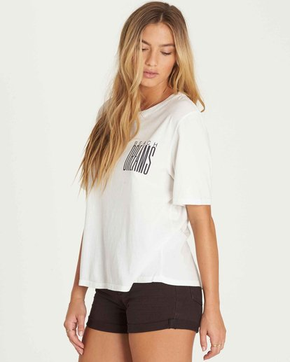 2 Take Back Lace-Up Vintage Tee White J909PBTA Billabong