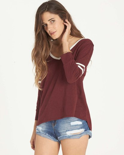 1 Get Back Top Red J911LGET Billabong