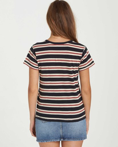 2 Soul Babe Striped T-Shirt Black J915LSOU Billabong