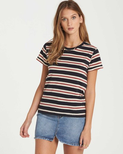 0 Soul Babe Striped T-Shirt Black J915LSOU Billabong