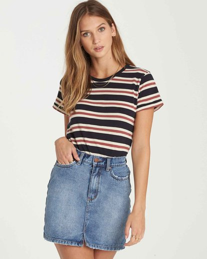 3 Soul Babe Striped T-Shirt Black J915LSOU Billabong