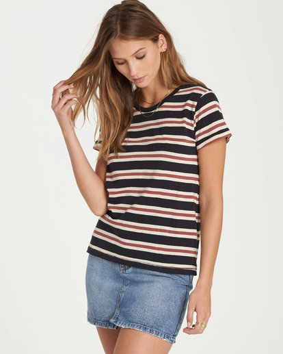 1 Soul Babe Striped T-Shirt Black J915LSOU Billabong
