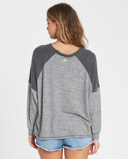 2 Head Start Long Sleeve Top Grey J917SBHE Billabong