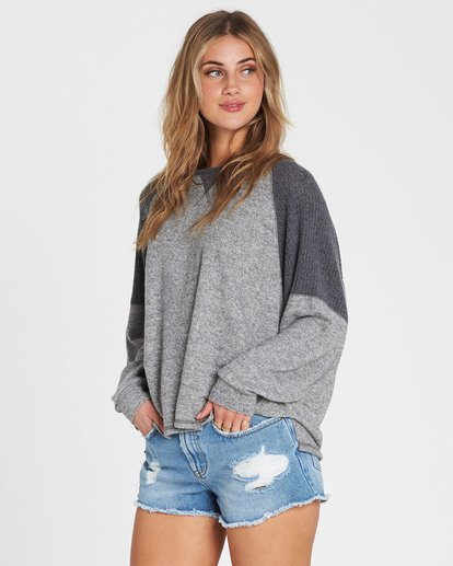 1 Head Start Long Sleeve Top Grey J917SBHE Billabong