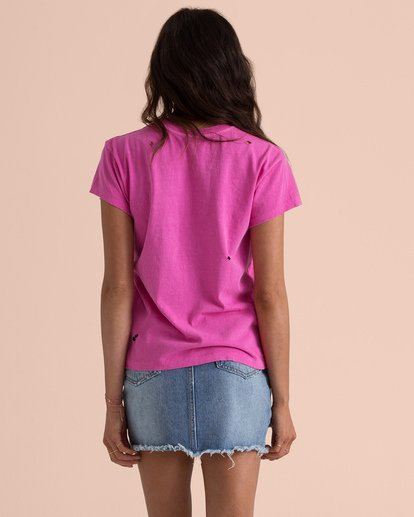 2 Sincerely Jules Perfect Boy Tee Pink J918TBPE Billabong