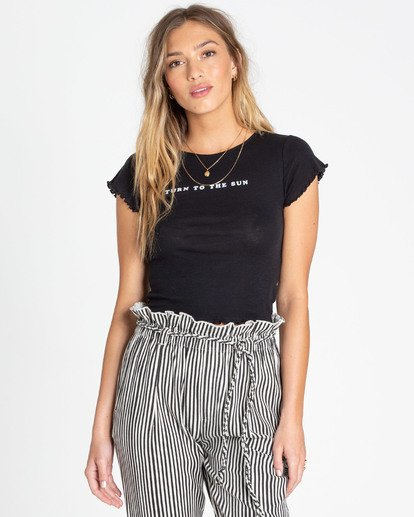0 Secret Coast Tee Black J920TBSE Billabong