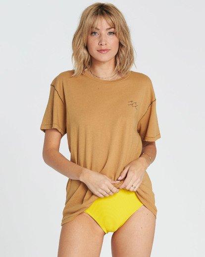 4 Beach Daze Short Sleeve T-Shirt Yellow J921NBBE Billabong