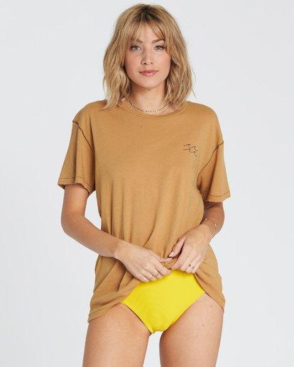 2 Beach Daze Short Sleeve T-Shirt Yellow J921NBBE Billabong