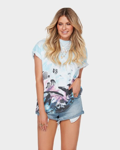0 The Blue Crush Tee Blue J979SBBL Billabong