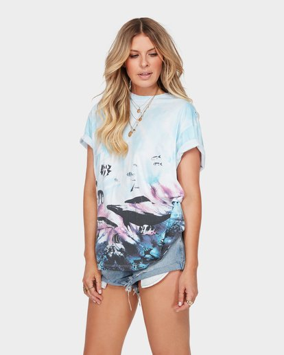 1 The Blue Crush Tee Blue J979SBBL Billabong
