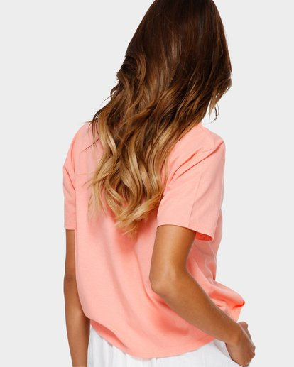 2 Beach Bum Crop Tee Pink J990TBBR Billabong