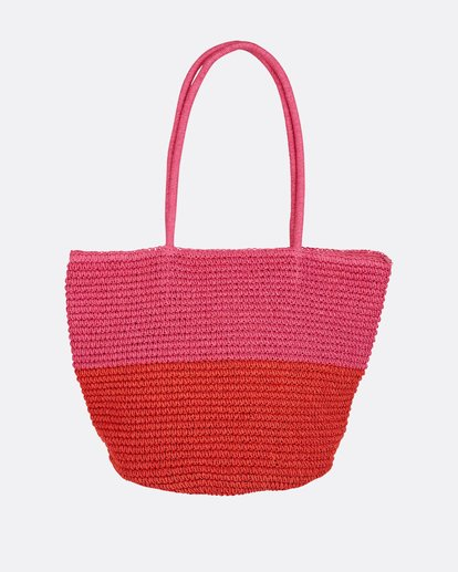 2 Heart N' Soul Straw Tote Bag Pink JABGPBHE Billabong