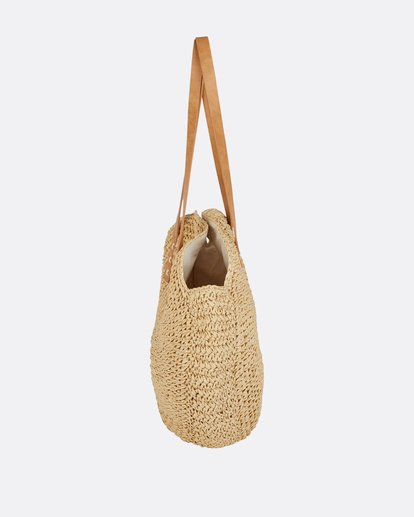 1 Round About Straw Tote Bag  JABGPBRO Billabong