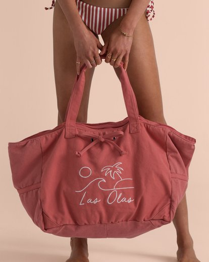 0 Sincerely Jules Las Olas Canvas Tote Bag Red JABGTBLA Billabong