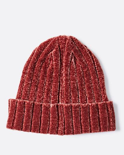 1 Warm Up Chenille Beanie Red JABNQBWA Billabong