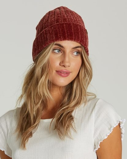 2 Warm Up Chenille Beanie Red JABNQBWA Billabong