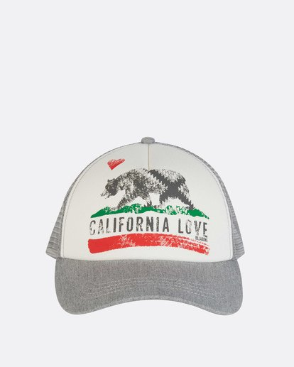 1 Pitstop Trucker Hat Grey JAHT7PIT Billabong
