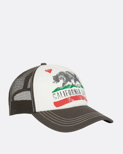 2 Pitstop Trucker Hat Grey JAHT7PIT Billabong