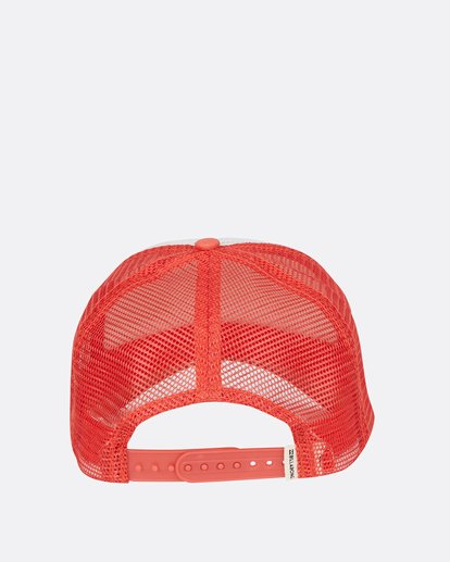 3 Pitstop Trucker Hat Orange JAHT7PIT Billabong