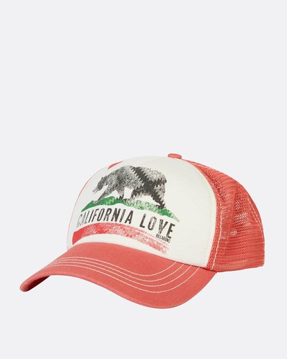 0 Pitstop Trucker Hat Orange JAHT7PIT Billabong