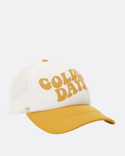 6 Across Waves Hat Yellow JAHTMACR Billabong