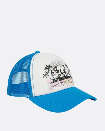 2 Retro Bear Trucker Hat Blue JAHWNBRE Billabong