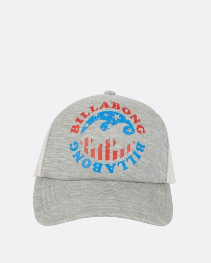 1 Across Waves Trucker Hat Grey JAHWPBAC Billabong