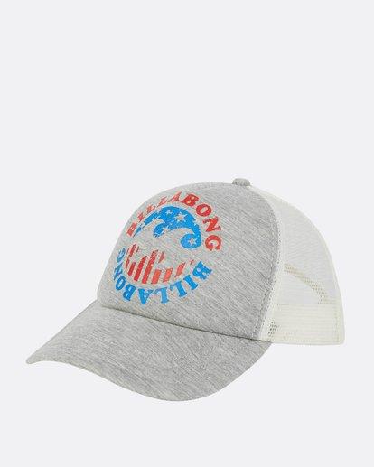 0 Across Waves Trucker Hat Grey JAHWPBAC Billabong