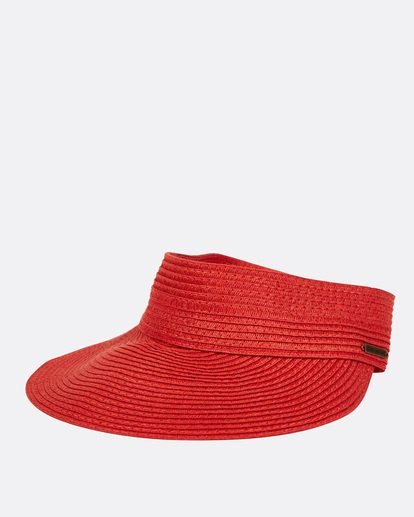 2 Not Now Straw Visor Red JAHWPBNO Billabong
