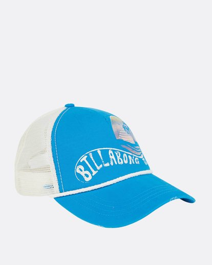 6 Radical Dude Trucker Hat Blue JAHWPBRA Billabong