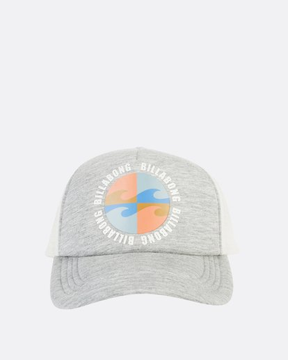 1 Across Waves Trucker Hat Grey JAHWQBAC Billabong