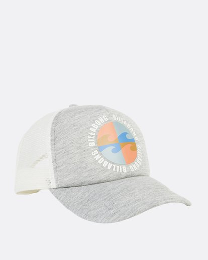 2 Across Waves Trucker Hat Grey JAHWQBAC Billabong