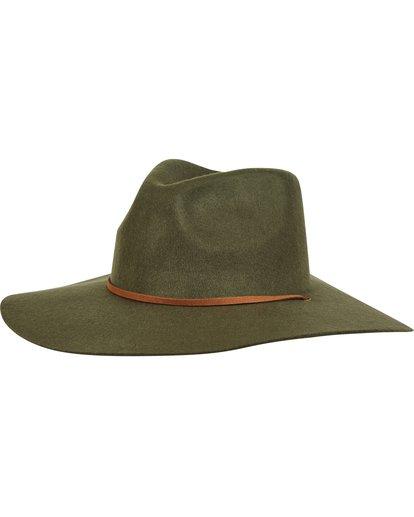 1 On The Rocks Felt Hat Green JAHWQBON Billabong