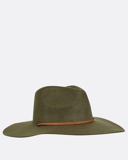 6 On The Rocks Felt Hat Green JAHWQBON Billabong