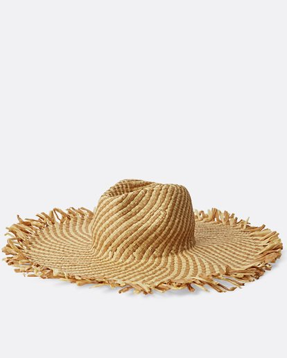 1 Sincerely Jules Catching Rays Straw Hat White JAHWTBCA Billabong