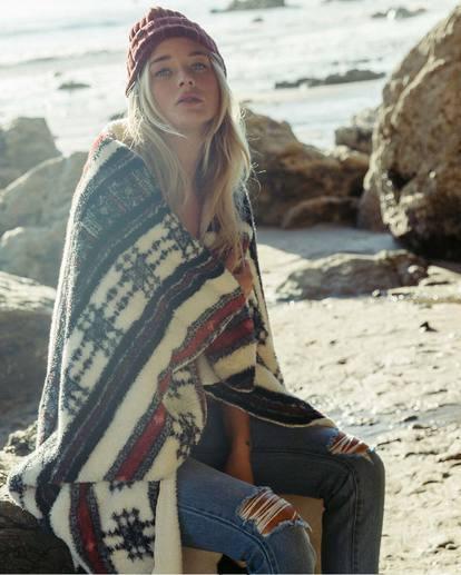 0 Warmin Up Sherpa Throw Blanket  JAMCSBWA Billabong