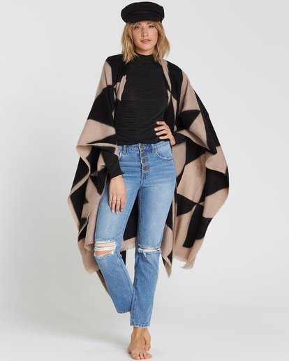 0 Beachy Nights Wrap Poncho Wrap Black JASCSBBE Billabong