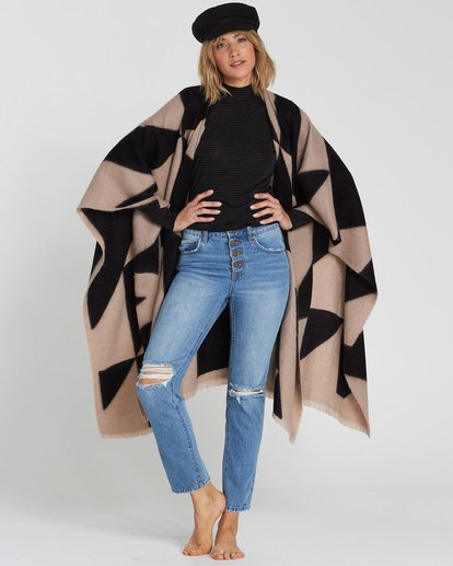 1 Beachy Nights Wrap Poncho Wrap Black JASCSBBE Billabong