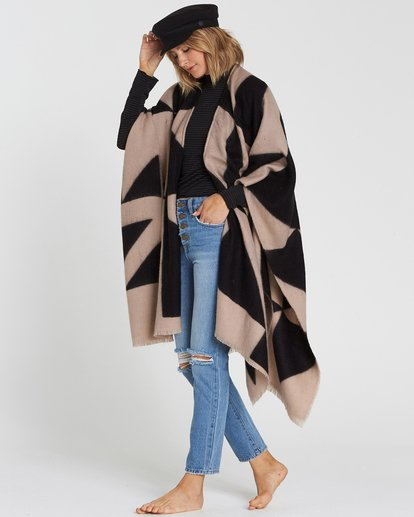 2 Beachy Nights Wrap Poncho Wrap Black JASCSBBE Billabong