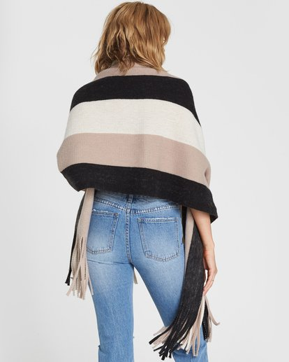 1 On The Fringes Striped Scarf Black JASCSBON Billabong