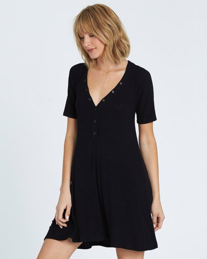 1 Hide Away Knit Dress Black JD01SBHI Billabong