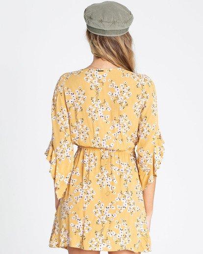 2 Love Light Mini Dress Yellow JD02TBLO Billabong