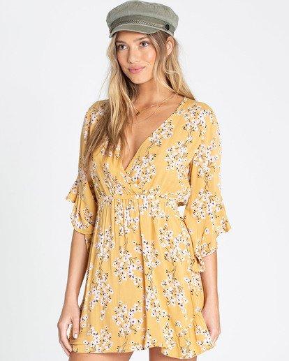 1 Love Light Mini Dress Yellow JD02TBLO Billabong