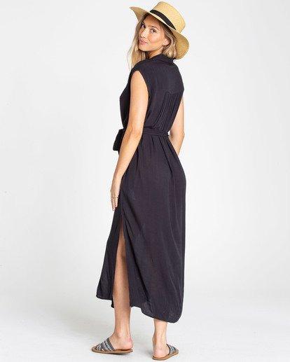 2 Little Flirt Maxi Dress Black JD04TBLI Billabong