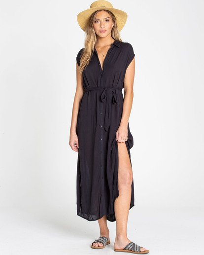 0 Little Flirt Maxi Dress Black JD04TBLI Billabong