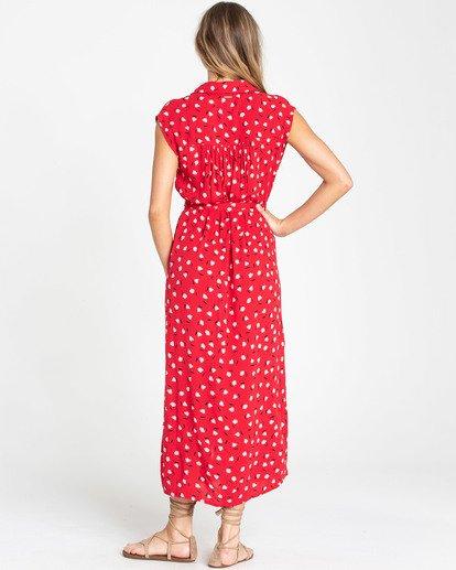 3 Little Flirt Maxi Dress Red JD04TBLI Billabong