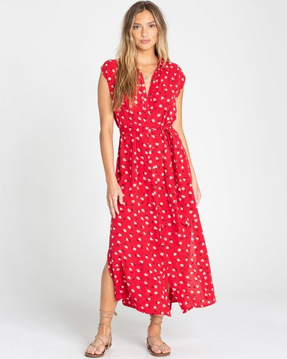 1 Little Flirt Maxi Dress Red JD04TBLI Billabong