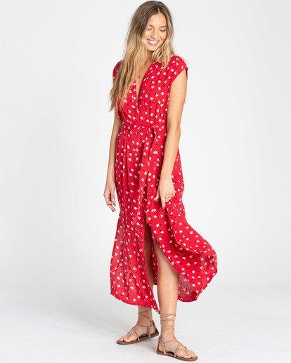 2 Little Flirt Maxi Dress Red JD04TBLI Billabong