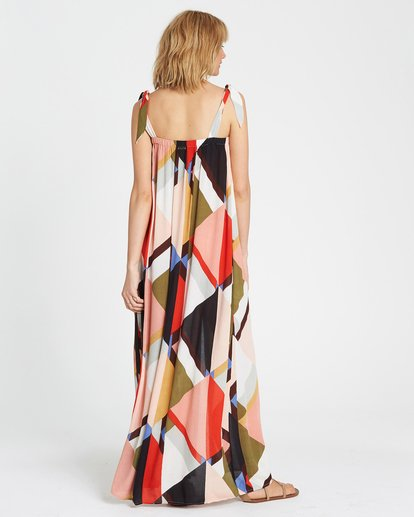 4 Rainbow Gate Printed Maxi Dress  JD06SBRA Billabong